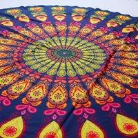 microfiber Beach Towel Hippie Boho Mandala Beach Blanket  Indian Throw Bohemian Round Table Cloth Mandala Decor Yoga Mat Meditation Picni
