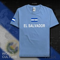 엘살바도르 남자 티셔츠 패션 유니폼 국가 팀 100 % 코 튼 티셔츠 의류 티셔츠 국가 스포츠 플래그 Salvadoran SLV X0621