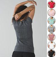 Outfit Lu Йога женские Лулус быстро рубашки технология футболка с коротким рукавом экипаж 2.0 круглые шеи футболки тонкий и дышащий футболки спортивный спорт открытый быстрый