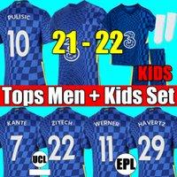 Chelsea fourth 20 21 22 WERNER HAVERTZ CHILWELL ZIYECH Soccer Jerseys 2021 2022 PULISIC home blue Football Shirt KANTE MOUNT 4th Men Kids set Kits tops with socks