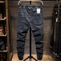 Jeans da uomo Jeans Hallen Jeans da uomo Pantaloni in pizzo elastico per il tempo libero Piedi per il tempo libero Tendenza a vita tendenza e autunno 9UCB