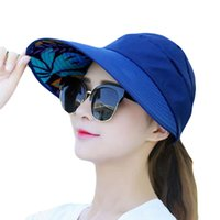 Summer Foldable Flower Decoration Solid Color Hat Sun UV ProtectionCasual Travel Beach Cap For Women