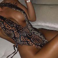 Toltolq Snake Bikini 2021 Sexy Deep V Body Body Saimwears Beachwear Summer Femmes Combinaisons Femmes Jumpseau pour femme Rompeurs