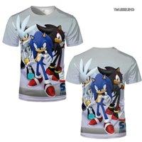Jerseys de fútbol 2021 verano Tendencia europea y americana para hombre Sonic Sonic 3D camiseta impresa moda fresco dibujos animados casual estilo calle topsoccer jersey
