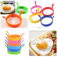 DHL Fast Kitchen Silicone Fried Fry Frier Oven Poacher Egg Poach Pancake Ring Mould Tool FY4673 FJ08