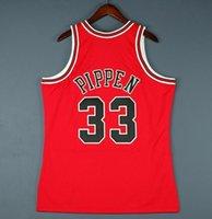 Homens Personalizados Juventude Mulheres Vintage Scottie Pippen Mitchell 98 Finais Facais Basquete De Basquete Tamanho S-4XL ou Personalizado Qualquer nome ou Número Jersey