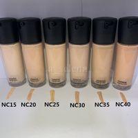 Face Makeup 35ml Flytande Foundation 6 Färg NC15 NC20 NC25 NC30 NC35 NC40 concealer Ljusa