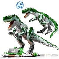 Fikirler Jurassic Dinozor Hayvan Parkı Dünya Yapı Taşları Uzman Tyrannosaur Model Tuğla Meclisi Oyuncaklar Çocuk Hediyeler için