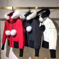 최신 여성 Homme 겨울 다운 자켓 너클 Doudoune Parka 겉옷 큰 모피 후드 여자 무스 다운스 하 재킷 코트
