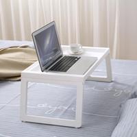 Hooks & Rails Portable Bedding Laptop Desk Simple Folding Household Lazier Shelves Pregnant Woman Table Storage Organization
