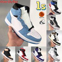 2021 University Blue 1 1s scarpe da basket UNC Hyper Royal Top 3 Shadow 2.0 Dark Mocha Lucky Green Uomini Formatori Scarpe da ginnastica da donna