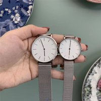 2021 top brands send original gift box brand watches for men and women high quality stainless steel mesh belt couple simple 30mm 20mm high-end men's clothing