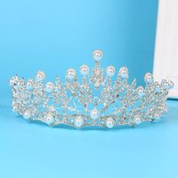 Hair Clips & Barrettes Wedding Bridal Tiaras Headband Crystal Imitation Pearl Women Crowns Accessories HELH889