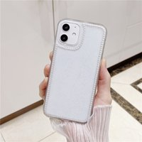 Pearl Glitter Phone Cases Shockproof Glossy Soft Cover 3D Bling Sequins Shell For iphone X MAX XR 11 12 PRO