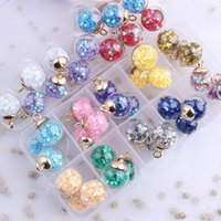 Charms 18pcs Candy Color Transparent Star Sequins Glass Ball Quicksand Charm Pendant For Bracelet Necklace Earring Jewelry Making DIY
