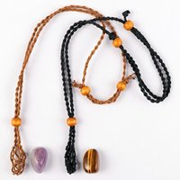 Decorative Objects & Figurines 2021 Adjustable Waxed Rope Necklace Cord Chain Braid Bracelets For Women DIY Handmade Making Jewelry Accessor