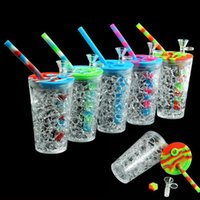 Drink Cup Hand Pipe 157 Mm*68 Mm Water Smoking Pipes Silicone Dab Oil Rig Bong Hookah MOQ 1 Piece