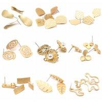 10 قطع سبائك الزنك الذهبي قاعدة الهندسة القرط موصل سحر ل diy أقراط والمجوهرات صنع إيجاد اللوازم الملحقات النساء