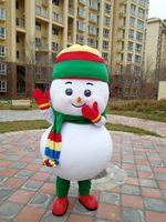 Vestido de lujo de la mascota del bebé del bebé del muñeco de nieve de la Navidad para la personalización del soporte de la fiesta del carnaval de Halloween