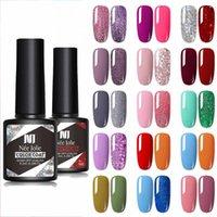 Nail Gel 2pcs set Polish Glitter Matte Varnishes Seal For Extension Design Base And Top Coat Manicure TSLM1