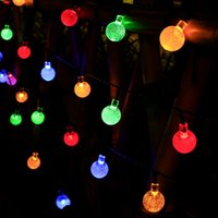 Solar String Lights Outdoor Solar Patio Lights with 8 Modes, Waterproof Crystal Ball String Lights for Patio, Lawn, Gazebo, Party, Wedding, Garden Decorations