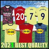 المشجعون لاعب الإصدار 21 22 Arsen Soccer Jersey Pepe Nicolas Ceballos Henry Guendouzi Sokratis Mailes-Niles Tierney 2021 2022 قميص كرة القدم الرجال موحدة
