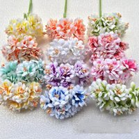 Decorative Flowers & Wreaths 6 Heads Silk Hydrangea Autumn Vases For Home Decor Christmas Flower Wedding Wall Set Artificial