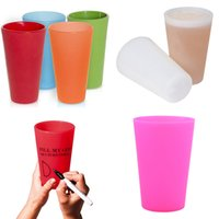 Reusable Silicone Wine Glasses Portable Printed Outdoor Beer...