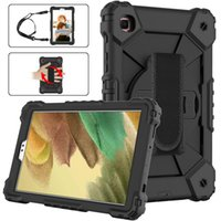 """Tough Armor Cover Hand Strap Shoulder Strap 360 Rotatable Kickstand Protective Case For Samsung Galaxy Tab A7 Lite 8.7"""" SM-T220 T225"""