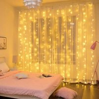 Полоски Huiran 3M LED Fairy Lights Гирлянды Занавес Лампы Пульт дистанционного управления USB String Рождественские украшения для дома Спальня