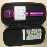 Q7 Kareoke Player Беспроводной портативный микрофон Magic KTV с динамиком громкоговоритель Magic Bluetooth для смартфона iPhone 7
