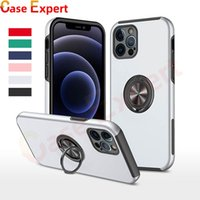Military Grade Protection Shockproof Cases Built-in Ring Holder Kickstand Cover Case for iPhone 12 Pro Max Samsung A02S A10S A20S A30S S21 Ultra