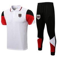 2021 2022 Avusturya Futbol Mens Eşofmanlar Futbol Eğitimi Polo Gömlek Setleri Kitleri Koşu Takım Elbise Spor Yetişkin Kısa Kollu Polos ve Pantolon Tişörtü Sportwear