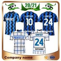 Novo 20/21 Versão do jogador Inter futebol Jersey 2020 Home Lukaku Lautaro Futebol Camiseta Skriniar Eriksen Brozovic Away Futebol Uniforme