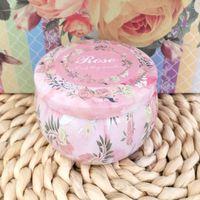 Bougies Bougies avec couvercle Floral Bricolage Making Kit Titulaire De Stockage Étui de rangement pour épices Dry Camping Party Faveurs et Sweets Round Cadeau Coffret GGA5146