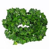 12 قطعة / الوحدة نباتات وهمية الاصطناعية الأخضر اللبلاب الأوراق العنب كرمة الخضرة جارلاند الزفاف زهرة الديكور ديكور الزهور الزخرفية