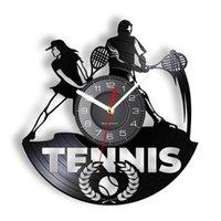 벽 시계 테니스 장식 레이저를 잘라 내기 Longplay 시계 팻 볼 게임 스포츠 시계 LED 아트 선수 선물