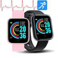 Y68 Smart Watch AppleWatch Life Waterproof Fitness Tracker Heart Rate Monitor Blood Pressure Bluetooth D20 Smartwatch For Android apple
