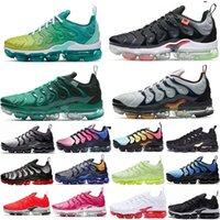 Designer Shoes TN Plus Men Women Triple Black White Sunset Hyper Red Blue Volt fashion Mens Trainers Sports Sneakers Size 36-45