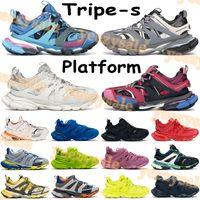2021 TRIPLE S 3.0 Scarpe casual da uomo Sneakers Sneakers Runner Blu Grigio Blu Grigio Bianco Arancione Trainer Lime Red Pink Donne formatori US 6-12