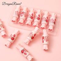 Dragon Ranee 6 Renkler / Set Şeker Kutusu Dudak Parlatıcısı Ayna Nemlendirici Nemlendirici Şeftali Çıplak Makyaj IP Sır Gaz Hava Cam Ruj