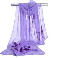 Thin scarf Chiffon Sarongs summer sunscreen shawl dual purpose flower women's