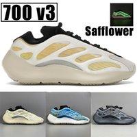 2021 mais novo 700 V3 Safflower Mens reflexivo Correndo Sapatos Azareth Azael Alvah Clay Brown de Alta Qualidade Homens Mulheres Sneakers US 5-11