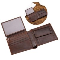 Wallets Vintage Leather Short Wallet For Male Men Retro Bifold With Card Holder Coin Purse Pouch