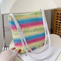 Shoulder bags Luxurys designers High Quality Fashion womens CrossBody Handbags wallets lady Clutch Rainbow cloth shopping Bag purse 2021 Totes Cross Body Handbag