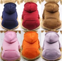 Hooded Pockets Sweater Small Dog Apparel Hoodies Coat Pocket Jackets With Sleeve Dogs Outside Travel Winter Warm Clothes3EKY