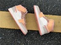 2021 Jumpman 1 Rosa Orange Herren Womens Basketballschuhe 1s Naranja Rosa Outdoor Trainer Sneakers Größe 36--45
