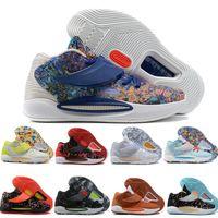 Mens Kevin Durant KD 14 XVI 14S Basquetebol Sapatos Multi-Color Blue Homens KD14 Trainers Zoom Elite Sport Sneakers US 7-12