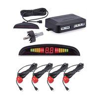 Car Rear View Cameras& Parking Sensors Led Sensor Parktronic Display 4Sensors Reverse Backup Monitor System