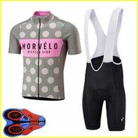 Morvelo Takım Yaz Erkek Bisiklet Kısa Kollu Jersey Önlüğü Şort Setleri 9D Jel Pad Önlüğü Şort Set Açık Spor Ropa Ciclismo